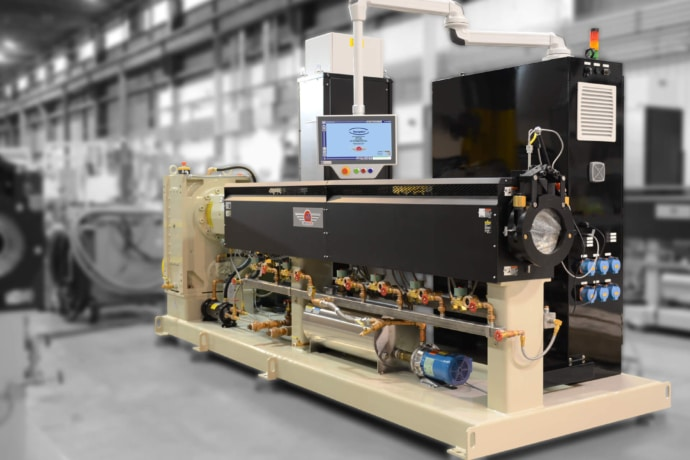solution design process ends with you getting the perfect machine like this extruder and process for your needs