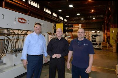 GEC president CEO, David Schroeder; VP Operations, Dan Fox Factory Manager, Shawn Kohlbus