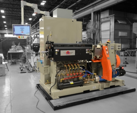 Ultra R/S machine pictured in grey brown in a factory setting