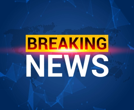 """news events shown with """"breaking news"""" in yellow and white on a blue background"""
