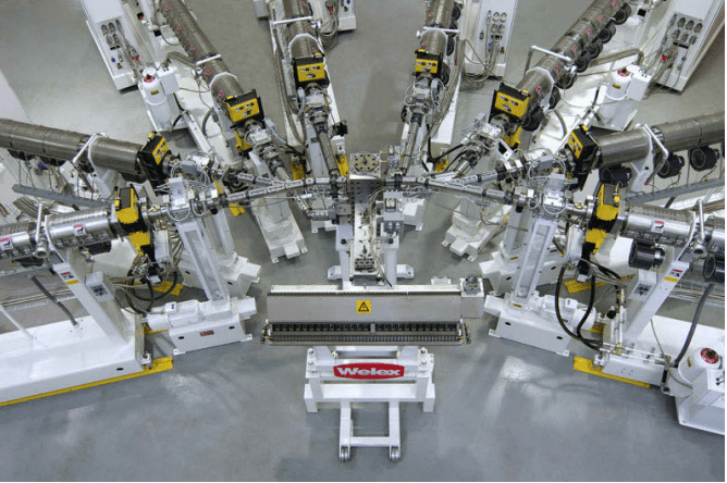 custom nine-extruder five-layer sheet extrusion system