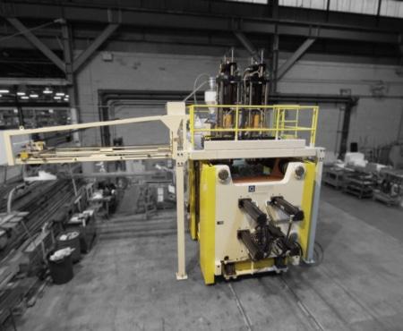 yellow hercules blow molding machine side view